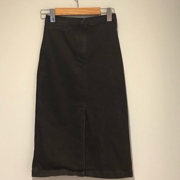Aritzia Dresses & Skirts - Aritzia Wilfred Free Denim Midi skirt